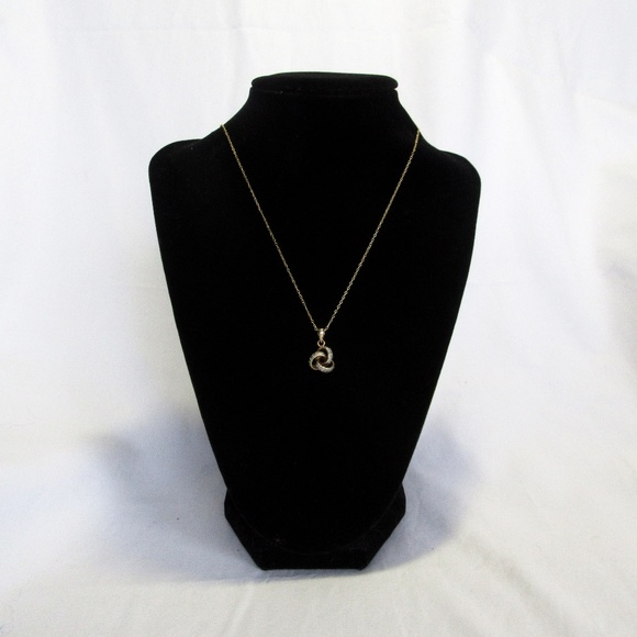 Triple gold ring necklace